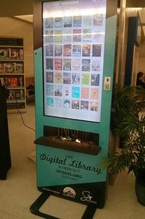 Un kiosque à ebooks dans l'aéroport de San Antonio, relié aux bibliothèques   Bibliothèques numériques   Scoop.it