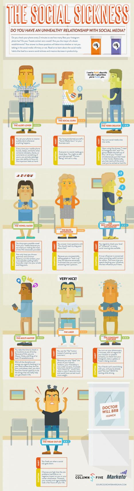 10 types d'accros aux médias sociaux | Infographies social media | Scoop.it