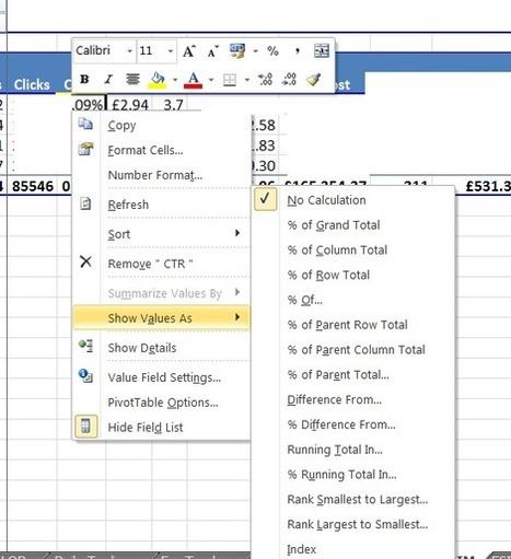 Excel tools for PPC - Pivot Tables - Yell Marketing | Excel For SEO | Scoop.it