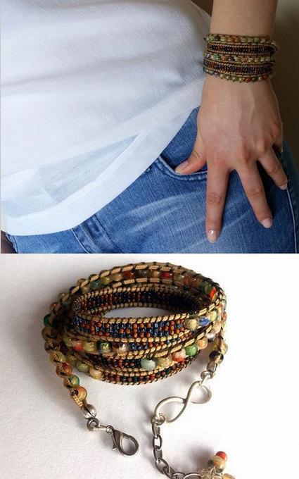 Beadwork, Beaded Bracelet, Wrap Bracelet 4 or 5 Wrap, Jewelry, Hippie Jewelry, Bohemian Style, Handmade Glass Beaded Bracelet, Gift, Boho | My Jewelrys | Scoop.it