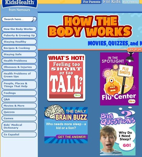 How the Body Works Main Page | Cool 5th Grade Science | Scoop.it
