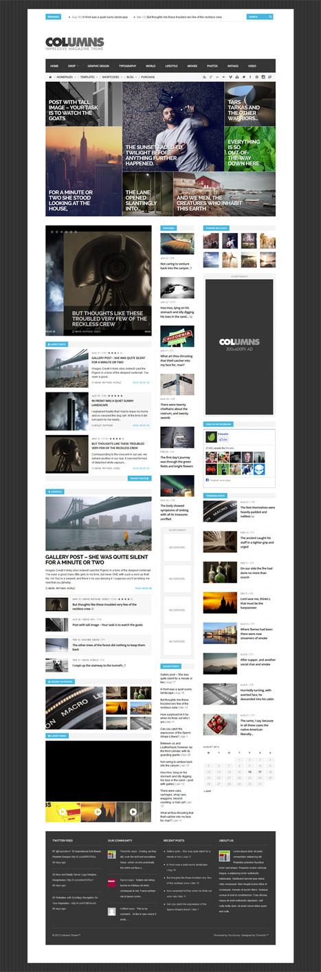 WordPress Themes: Minimal. Flat and Responsive Design | Wordpress Themes | Graphic Design Junction | Design | Scoop.it