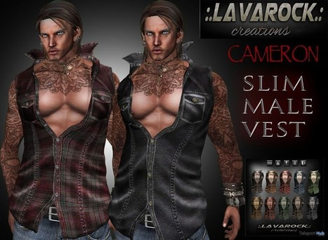 Cameron Slim Male Vest Group Gift by Lavarock Creations | Teleport Hub - Second Life Freebies | Second Life Freebies | Scoop.it
