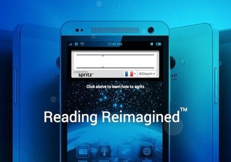 Spritz, la lecture numérique à 500 mots par minute - Actualitté.com | Bibliothèque, Médiathèque | Scoop.it