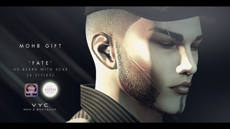 VYC - Beard Style [HD] 'Fate' | 亗 Second Life Freebies Addiction & More 亗 | Scoop.it