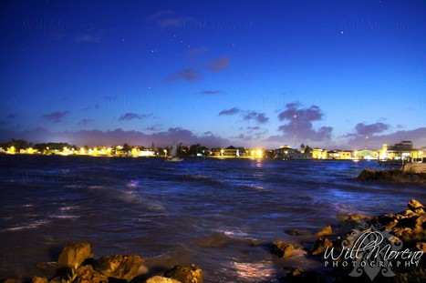 The Beauty of Belize City Shoreline at Night | Belize Food | Scoop.it