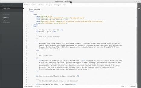 Ubuntu 13.04 - Brackets l'IDE Web opensource par Adobe | Le Libriste | Open Source | Scoop.it
