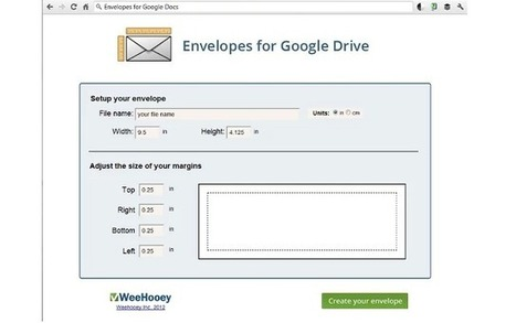 Template for Envelopes in Google Drive | iGeneration - 21st Century Education | Scoop.it