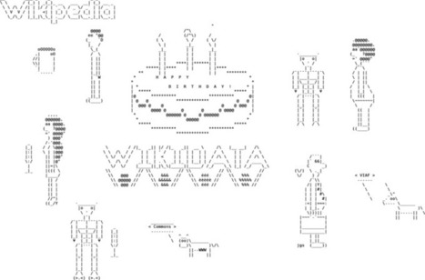 File:Wikidata third year celebration.png - Wikimedia Commons | ASCII Art | Scoop.it