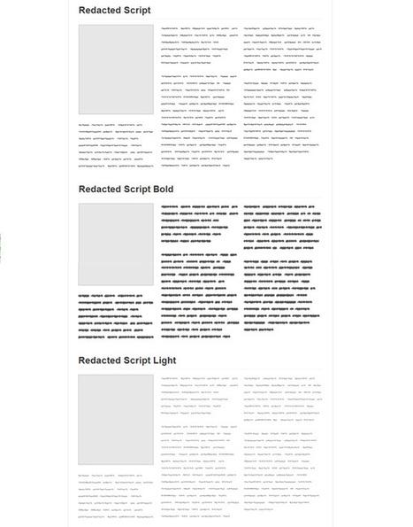 Comment se passer du Lorem Ipsum avec Redacted font ? | Au fil du Web | Scoop.it