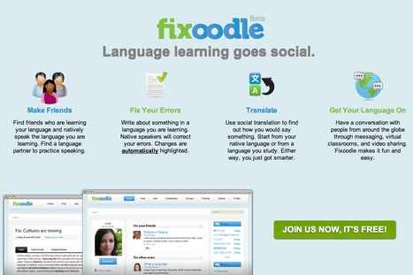 Fixoodle - social website connecting people who learn languages | Technology and language learning | Scoop.it