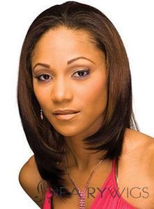Brazil Medium Straight Brown African American Lace Wigs for Women : fairywigs.com | African American Wigs | Scoop.it