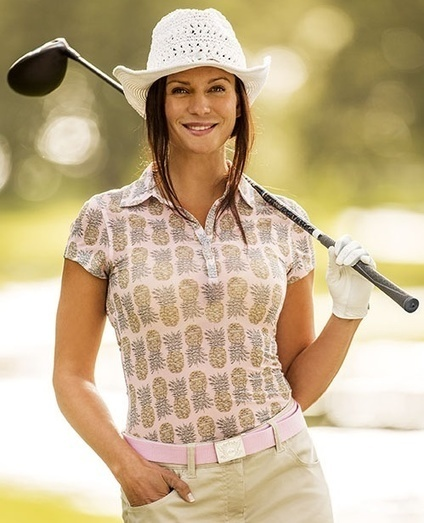 Daily Sports Ladies & Plus Size HOLIDAY Prudy Short Sleeve Golf Polo Shirts - Chintz | Golf Apparel | Scoop.it