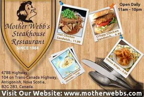 Mother Webb's Steakhouse Offers Best Steak Service in Antigonish | motherwebbs | Scoop.it