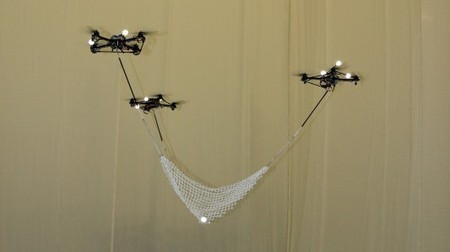 An impressive video of  3 quadrocopter robots that can fly in formation to catch balls! | Warehouse Automation | Scoop.it