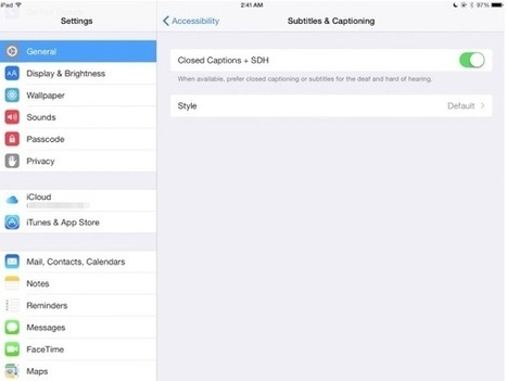 How to manage accessibility features on your iPad | Go Go Learning | Scoop.it