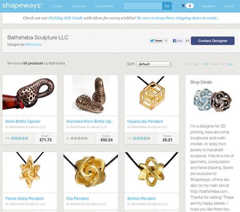 Shapeway.Il futuro del design, della manifattura e della creatività nell'era del 3D printing.   cloudle   Makers and 3d printing   Scoop.it