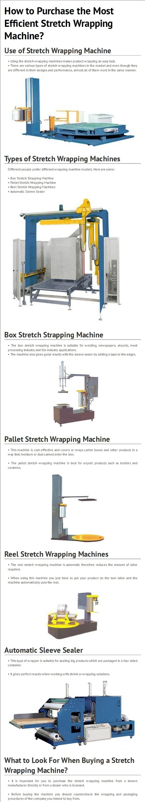 How to Purchase the Most Efficient Stretch Wrapping Machine? By www.multipackmachinery.com | Shrink Tunnel | Scoop.it