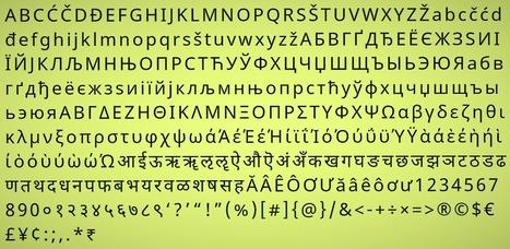 Google Creates Font Family for 800 Languages   Språk   Scoop.it