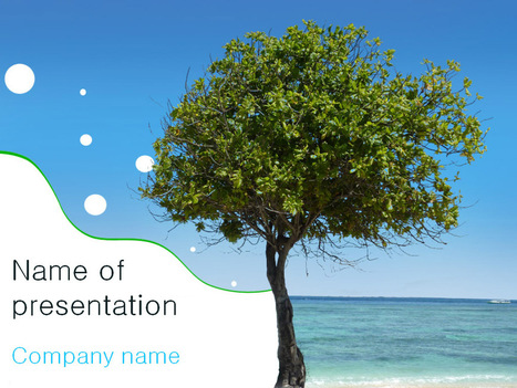 Download free Beach Tree powerpoint template for presentation | Powerpoint Templates and Themes | Scoop.it