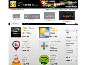 Les applications du Parrot Asteroid Smart - Caraudiovideo | localisation | Scoop.it