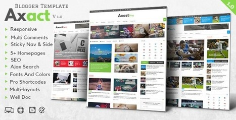 Axact - Responsive Magazine Blogger Theme - Free Themes Download | Blogger themes | Scoop.it