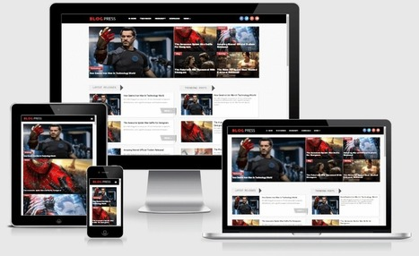 BlogPress Responsive Magazine Blogger Template | Hax9 | Blogger themes | Scoop.it