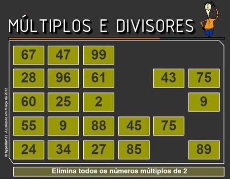 Múltiplos e divisores   Matemática n@ Escola   Scoop.it