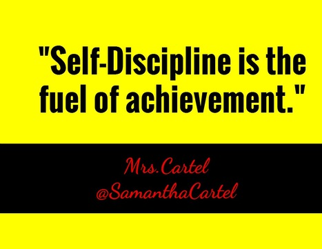 """""""Self-Discipline is the fuel of achievement."""" via @SamanthaCartel #quote 