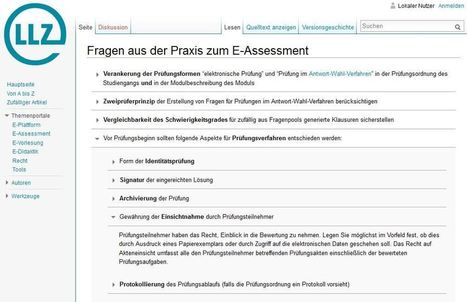 Wiki: Fragen aus der Praxis zum E-Assessment | e-learning in higher education and beyond | Scoop.it