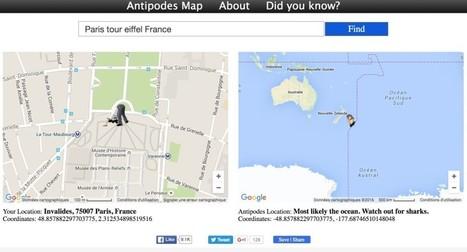 AntipodesMap. Qu'il y a-t-il aux antipodes de l'endroit où vous vous trouvez ? - Les Outils du Web | Innovation, digital, communication | Scoop.it