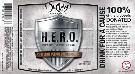 There's no wrong way to drink a DuClaw H.E.R.O. Chocolate Peanut Butter Porter: Now in Bottles | CraftBeer | Scoop.it