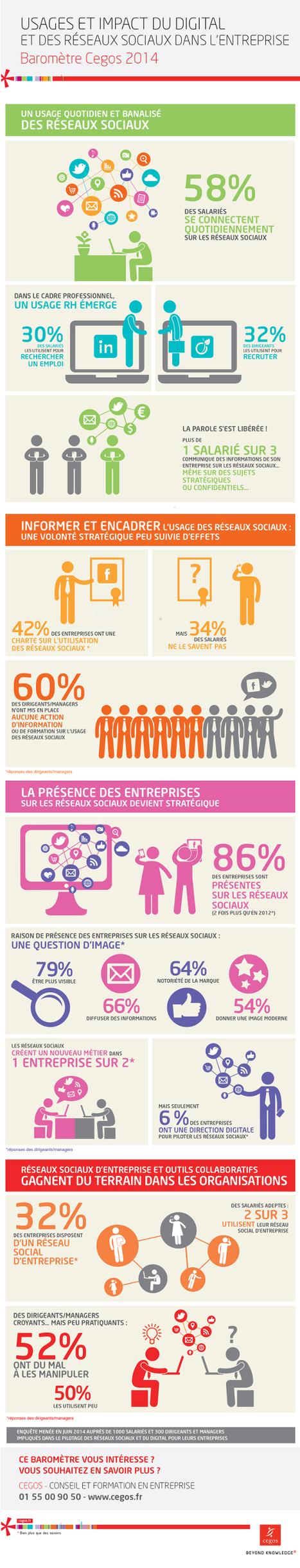 Infographie : Usages et impact du digital et des réseaux sociaux dans l'entreprise | Reseaux Sociaux, that is the question ? | Scoop.it