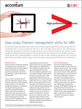 Content Management Utility for UBS - Accenture Interactive | Strategy and Competitive Intelligence by Bonnie Hohhof | Scoop.it