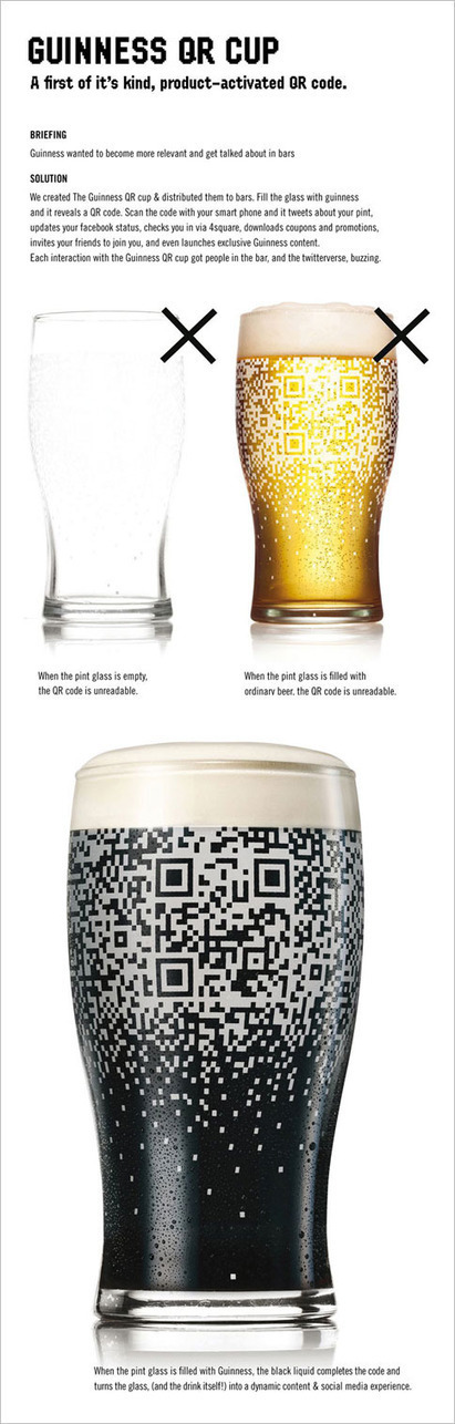 Guinness Creates Beer-Activated QR Code Cup, via @davidmerzel's BLOG | E-marketing et innovation | Scoop.it