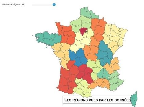 Regionator, la carte de France dessinée par les trajets quotidiens | [data visualization] In Data We Trust | Scoop.it