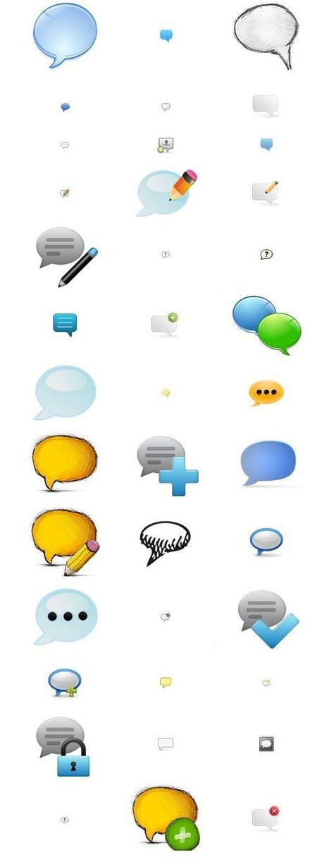 115 Free Comments Vector Icons Set Graphics Download | ciberpocket | Scoop.it