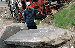 [Eng] Un monument en pierre, mémorial du séisme de 1933 retrouvé dans les décombres d'Otsushi | The Mainichi Daily News | Japon : séisme, tsunami & conséquences | Scoop.it