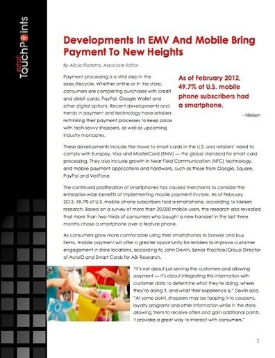 Mobile POS: Changing The Way Retailers Think About Payment | Smart Payment | Scoop.it