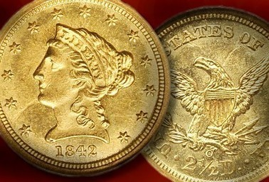 NGC 1842-O Quarter Eagle Gold Coin Claims Record Price | Gold | Scoop.it