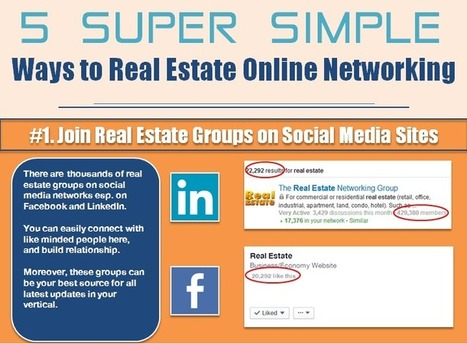 5 Super Simple Ways To Real Estate Online Networking (Infographic) ~ BLOGReal.Estate | News | Scoop.it