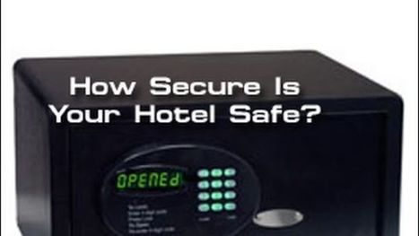 Watch This Guy Open a Hotel Room Safe With a Pocketknife and Paperclip | Strange days indeed... | Scoop.it