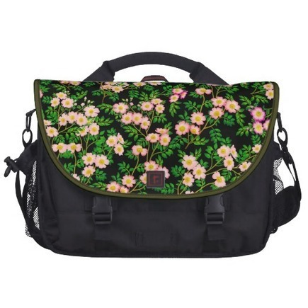 Pink Wild Rose Flowers Commuter Bag from Zazzle.com | Messenger Bags, Purses & Totes | Scoop.it