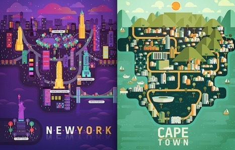 Colorful Illustrations of Cities   Illustration et dessin   Scoop.it