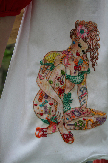 Sew Lovely Embroidery: Candy Apron! | Tips for Embroideries | Scoop.it