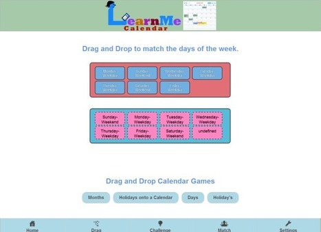 Educational Technology Guy: LearnMe Calendar - help young students learn about calendars and dates | Vicki | Scoop.it