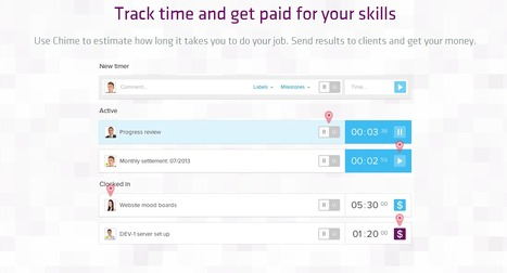 Chime - Free Time Tracking Tool from 84kids | 84kids - Software for pros ... | Scoop.it