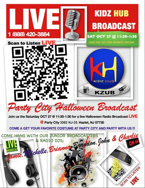 KiDz HuB Live Halloween Broadcast form Party City Sat Oct 27, 2012 | Junior Broadcasters | Scoop.it