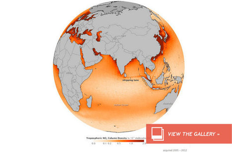 Ship Pollution Patterns Tracked From Space : DNews | Geography Bits | Scoop.it