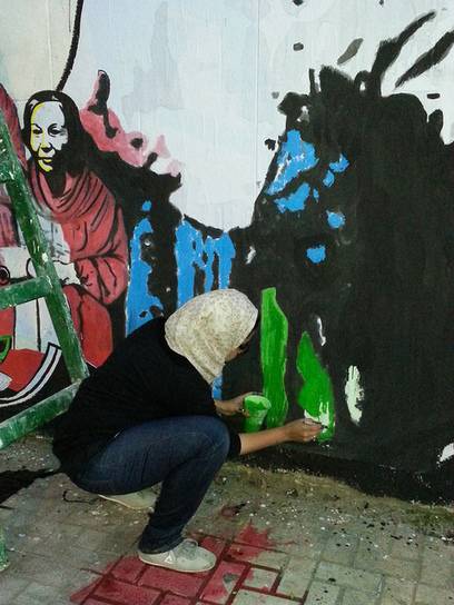 Egyptian women fight for equality with graffiti | The Observers | World of Street & Outdoor Arts | Scoop.it